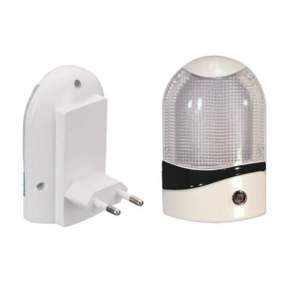 Mini abajur de tomada c/ sensor de luz BJ8705