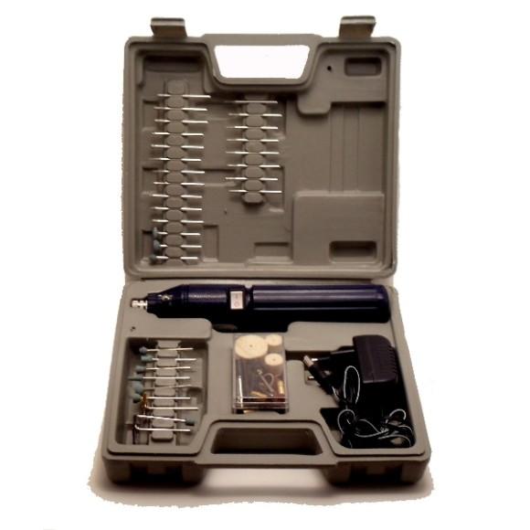 Mini Retífica Elétrica sem fio com mini furadeira,Acompanha 60 Acessórios